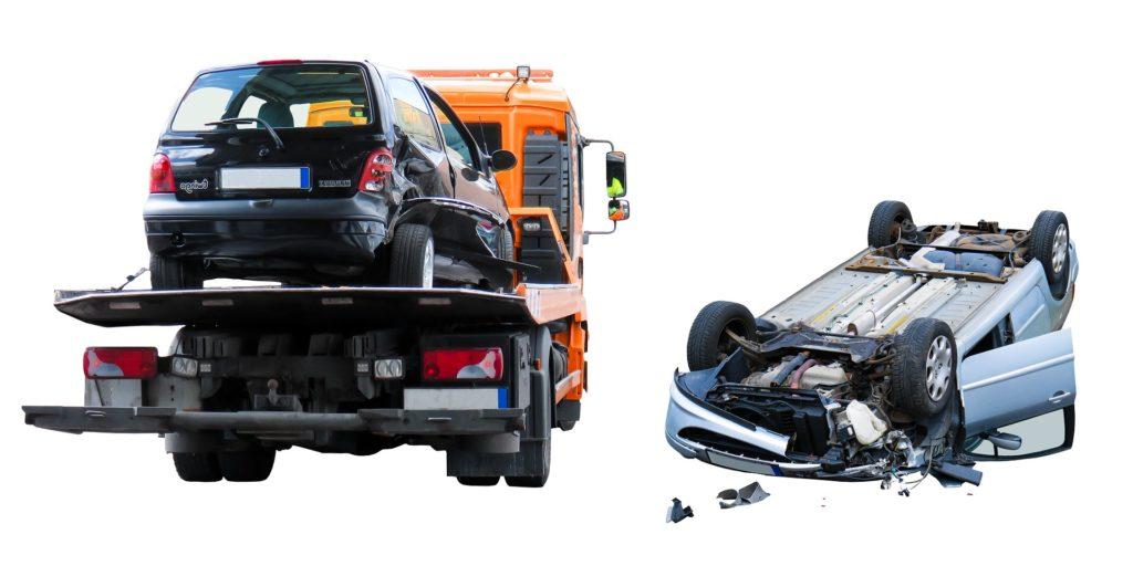 Carro attrezzi dopo incidente stradale
